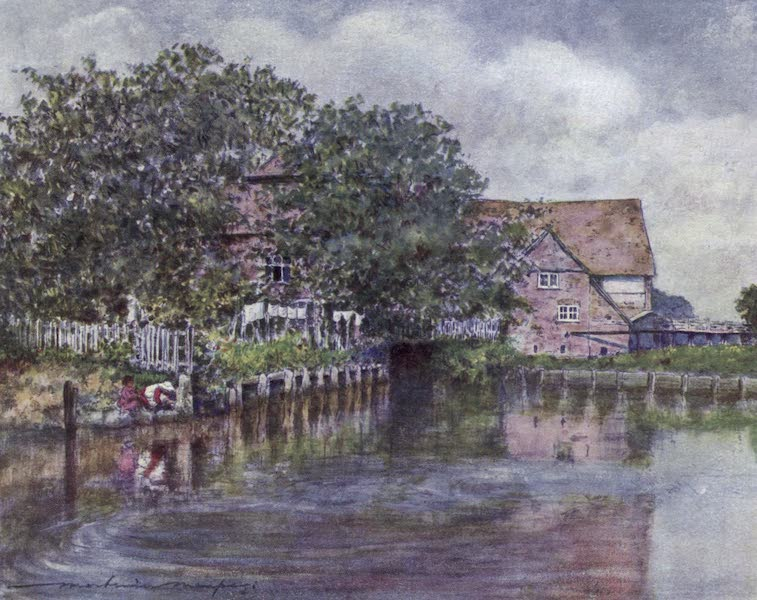 The Thames by Mortimer Menpes - Streatley Mill (1906)