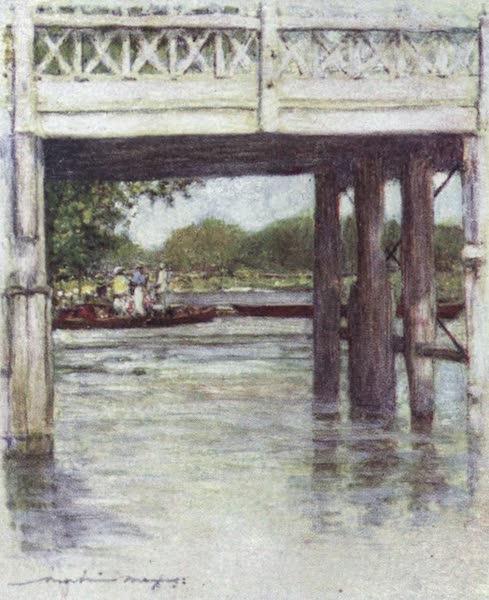 The Thames by Mortimer Menpes - Goring Bridge (1906)