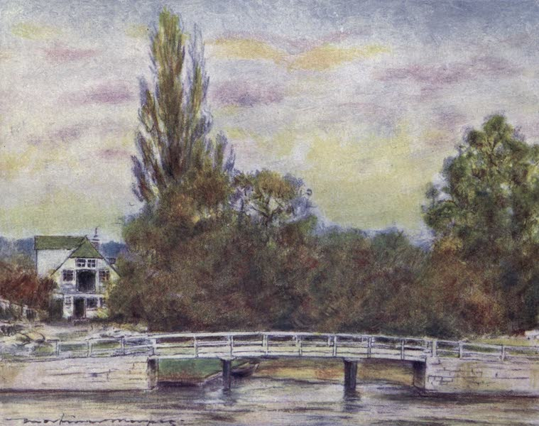 The Thames by Mortimer Menpes - Streatley (1906)