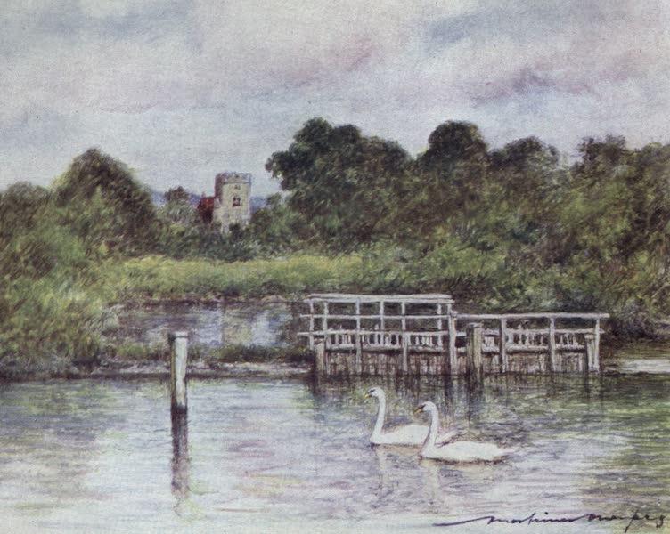 The Thames by Mortimer Menpes - Goring (1906)