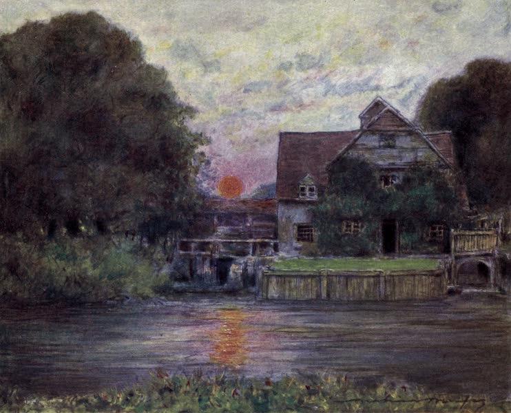 The Thames by Mortimer Menpes - Mapledurham Mill (1906)