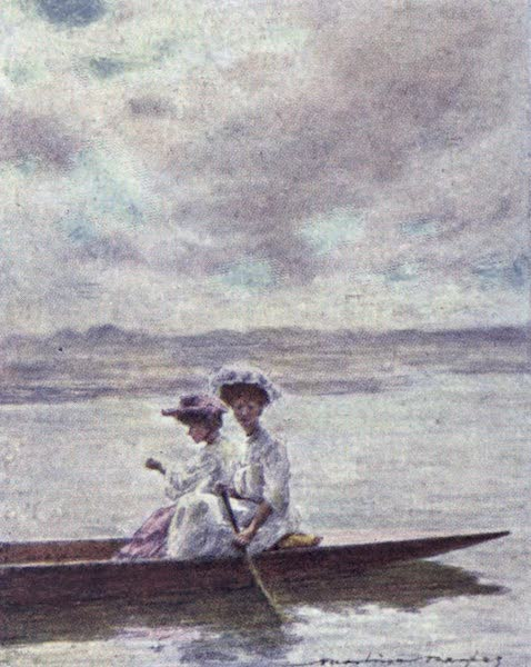 The Thames by Mortimer Menpes - Paddling (1906)