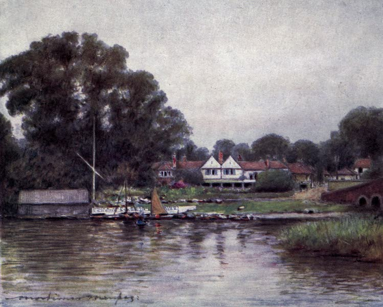 The Thames by Mortimer Menpes - The Rose Garden at Sonning (1906)