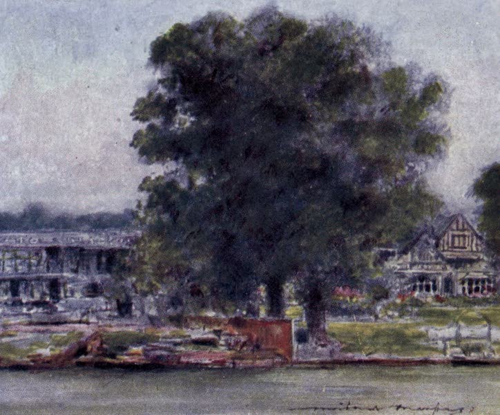 The Thames by Mortimer Menpes - St. George and the Dragon, Wargrave (1906)