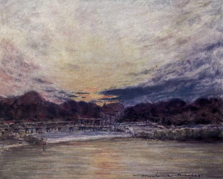 The Thames by Mortimer Menpes - Hambleden (1906)