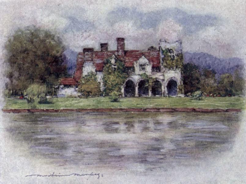The Thames by Mortimer Menpes - Medmenham Abbey (1906)