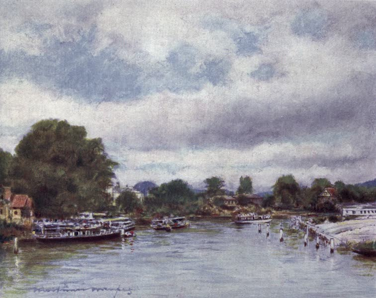 The Thames by Mortimer Menpes - General View of Marlow (1906)