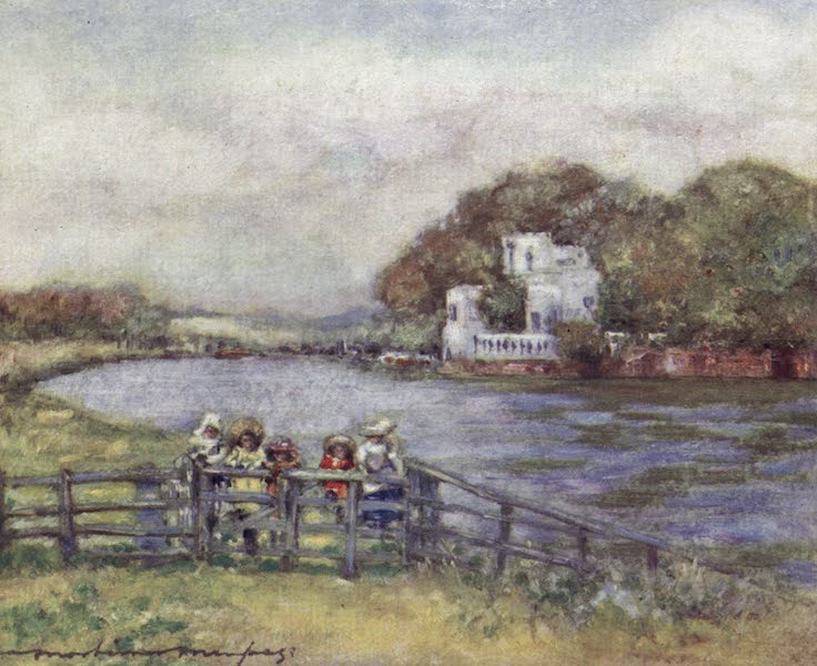 The Thames by Mortimer Menpes - Quarry Woods (1906)