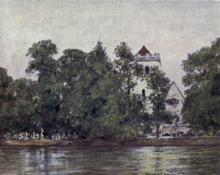 The Thames by Mortimer Menpes - Bisham Church (1906)