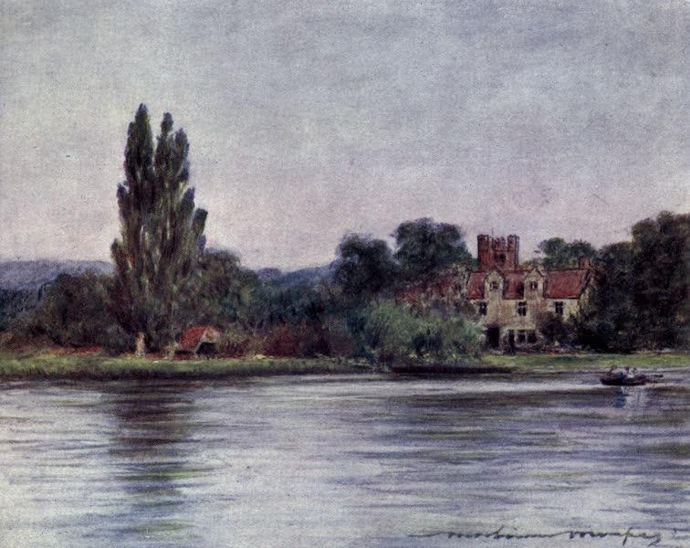 The Thames by Mortimer Menpes - Bisham Abbey (1906)