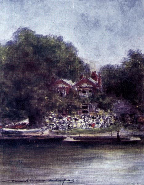 The Thames by Mortimer Menpes - Cookham, from above (1906)