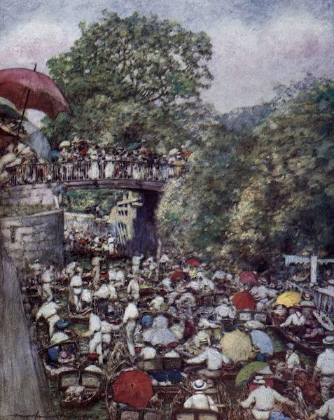 The Thames by Mortimer Menpes - Boulter's Lock, Ascot Sunday (1906)