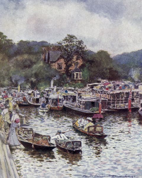 The Thames by Mortimer Menpes - Below Boulter's Lock (1906)