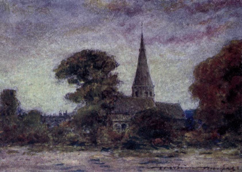 The Thames by Mortimer Menpes - Eton, from the Brocas (1906)