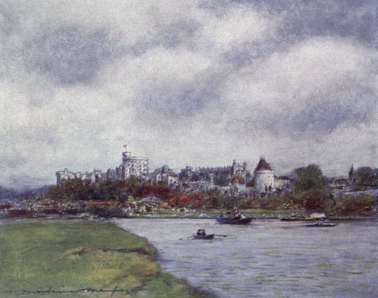 The Thames by Mortimer Menpes - Windsor Castle (1906)