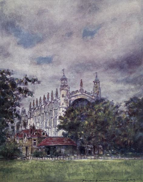 The Thames by Mortimer Menpes - Eton Chapel, from the Fields (1906)