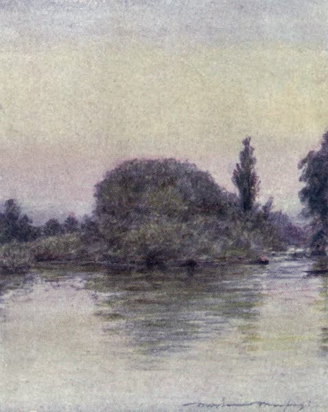 The Thames by Mortimer Menpes - Hedsor Fishery (1906)