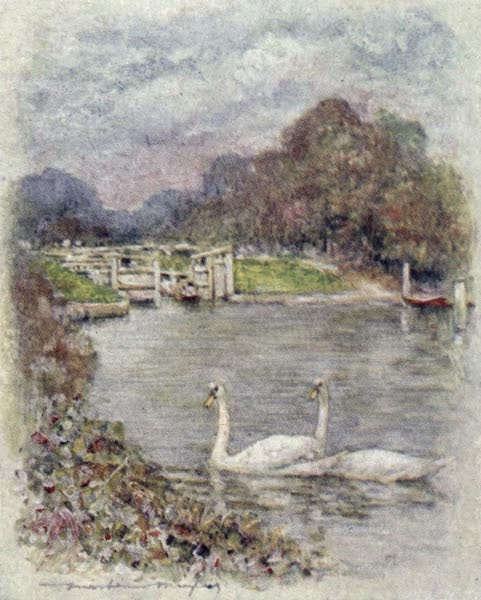 The Thames by Mortimer Menpes - Temple Lock (1906)