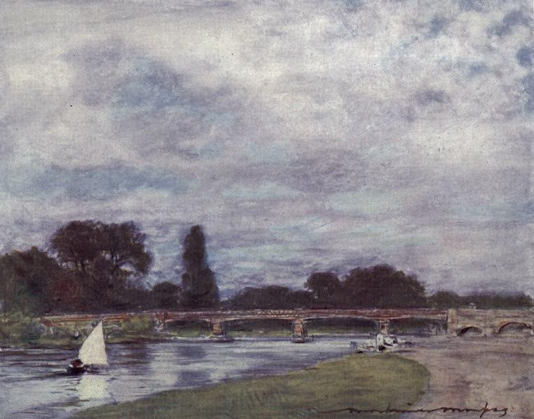 The Thames by Mortimer Menpes - Walton Bridge (1906)