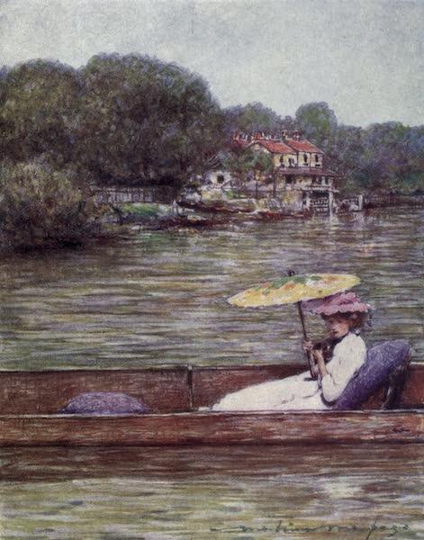 The Thames by Mortimer Menpes - Sunbury (1906)