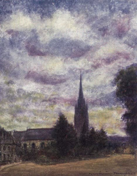 The Thames by Mortimer Menpes - Marlow Church (1906)
