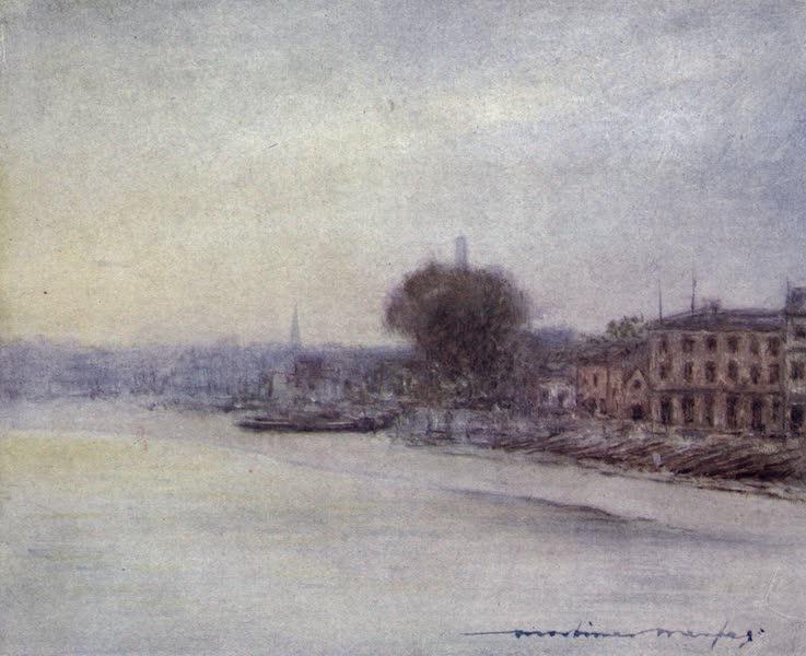 The Thames by Mortimer Menpes - Beyond Hammersmith Bridge (1906)