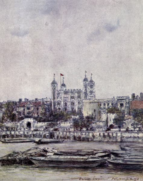 The Thames by Mortimer Menpes - The Tower of St. Magnus (1906)