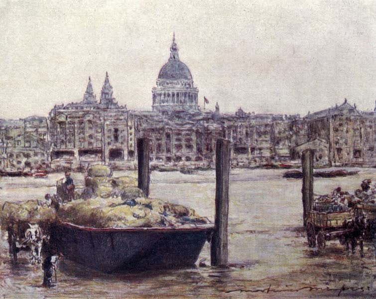The Thames by Mortimer Menpes - St. Paul's (1906)