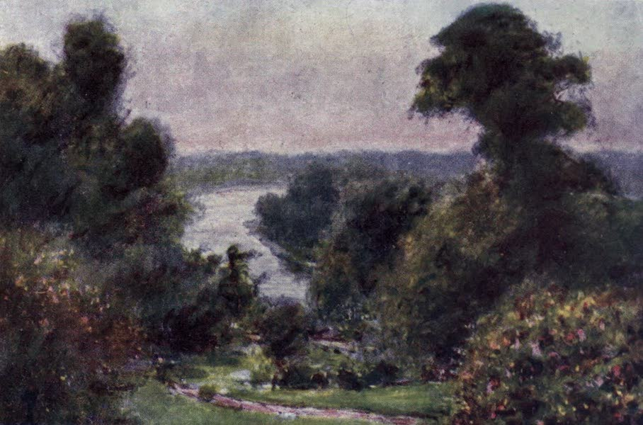 The Thames by Mortimer Menpes - View from Richmond Hill (1906)