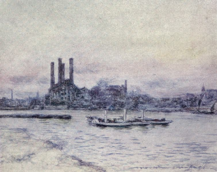 The Thames by Mortimer Menpes - From Battersea Bridge (1906)