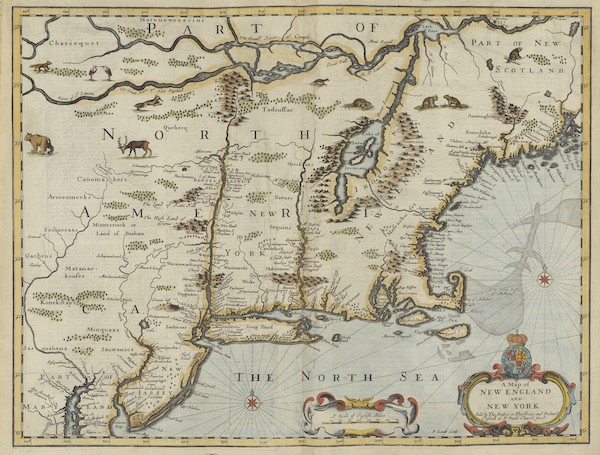 The Theatre of the Empire of Great-Britain - A Map of New England and New York (1676)