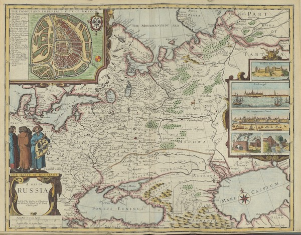 The Theatre of the Empire of Great-Britain - A Map of Russia (1676)