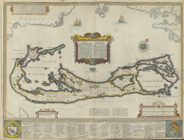 The Theatre of the Empire of Great-Britain - A Map of the Sommer Ilands (1676)