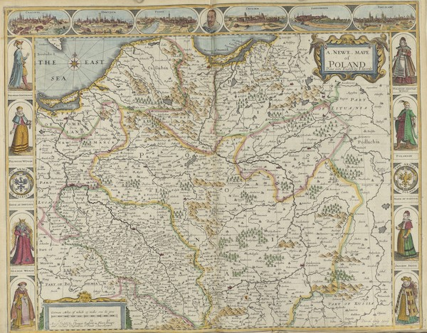 The Theatre of the Empire of Great-Britain - A Newe Mape of Poland (1676)