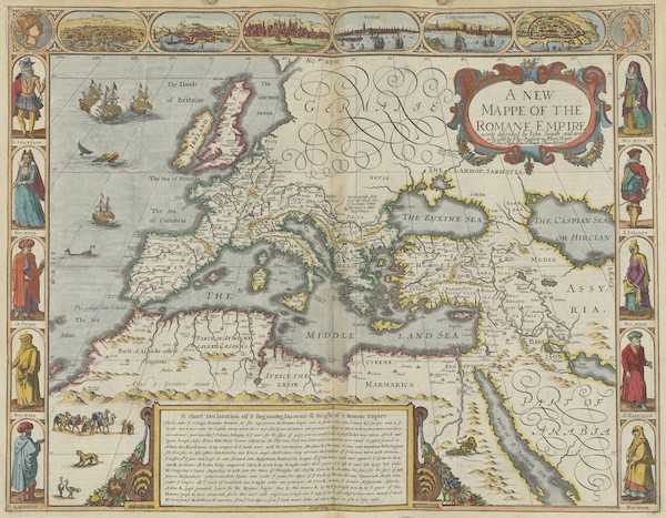 The Theatre of the Empire of Great-Britain - A Newe Mape of the Romane Empire (1676)