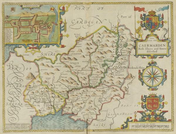 The Theatre of the Empire of Great-Britain - Caermarden (1676)