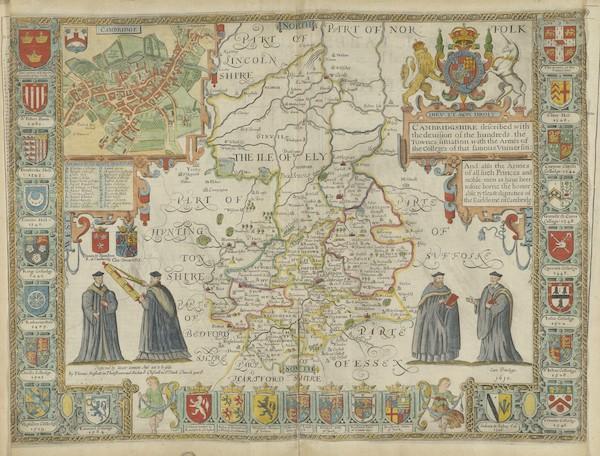 The Theatre of the Empire of Great-Britain - Cambridgshire (1676)