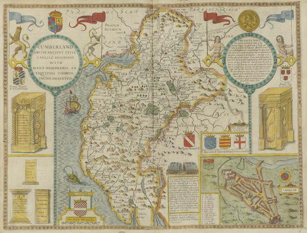 The Theatre of the Empire of Great-Britain - Cumberland (1676)
