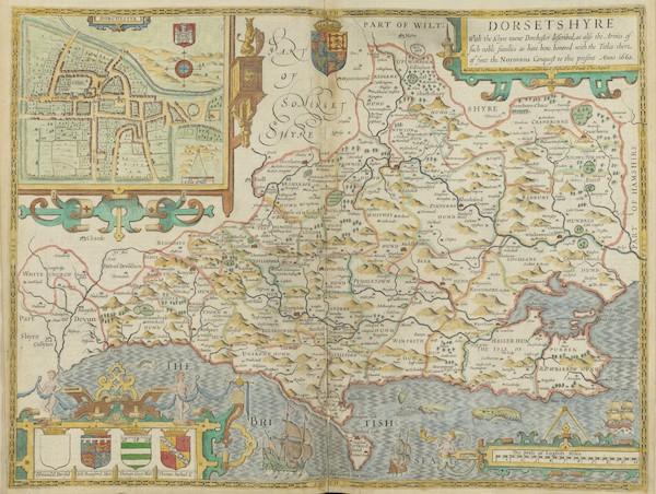 The Theatre of the Empire of Great-Britain - Dorsetshyre (1676)