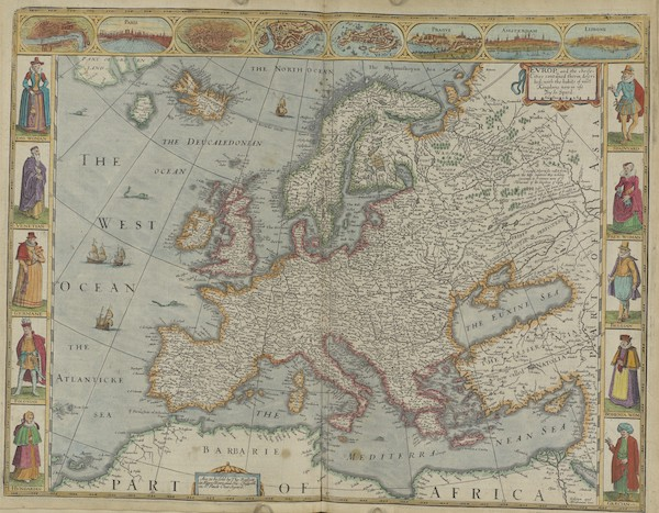 The Theatre of the Empire of Great-Britain - Evrop [Europe] (1676)