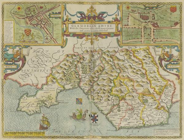 The Theatre of the Empire of Great-Britain - Glamorganshyre (1676)