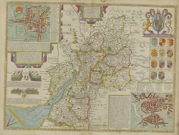 The Theatre of the Empire of Great-Britain - Glocestershire (1676)