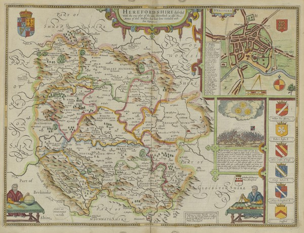 The Theatre of the Empire of Great-Britain - Herefordshire (1676)