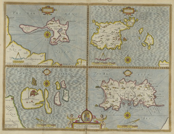 The Theatre of the Empire of Great-Britain - Holy Iland, Garnsey, Farne and Iarsey (1676)