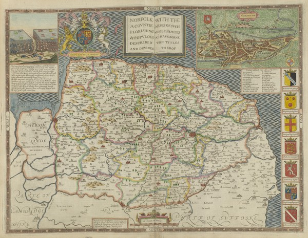 The Theatre of the Empire of Great-Britain - Norfolk (1676)
