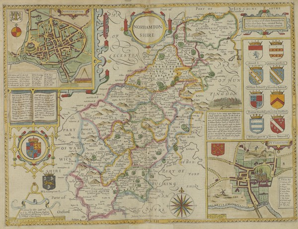 The Theatre of the Empire of Great-Britain - Norhamtonshire (1676)