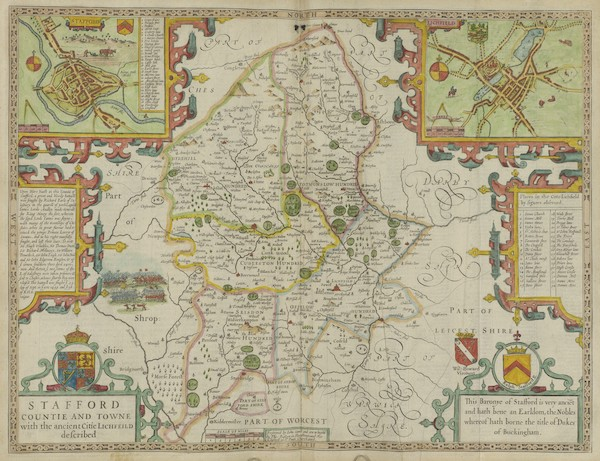 The Theatre of the Empire of Great-Britain - Stafford Countie and Towne (1676)