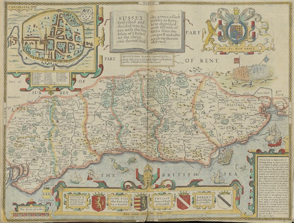The Theatre of the Empire of Great-Britain - Sussex (1676)