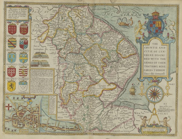 The Theatre of the Empire of Great-Britain - The Counti and City of Lyn (1676)