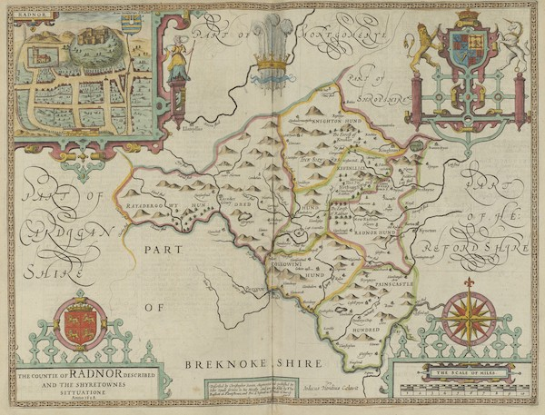The Theatre of the Empire of Great-Britain - The Countie of Radnor (1676)